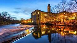 Salts Mill at dusk