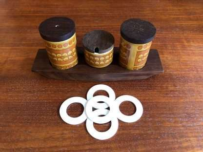 Hornsea condiment and spice jar seals - set of five