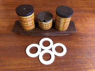 Hornsea condiment and spice jar seals - set of four