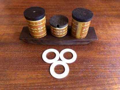 Hornsea condiment and spice jar seals - set of three