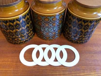 Hornsea flour and biscuit jar replacement seals - set of four