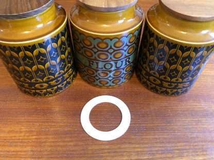 Hornsea flour and biscuit jar replacement seals - set of one