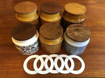 Hornsea tea coffee and sugar jars replacement rubber seal - set of five